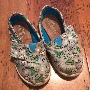 Toms Velcro Dino Slip-ons